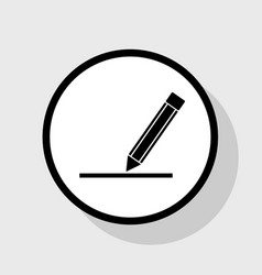 Pencil sign flat black icon vector
