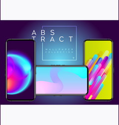 phone abstract futuristic wallpaper collection vector image vector image