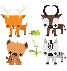 Savana wild animal vetor pack vector