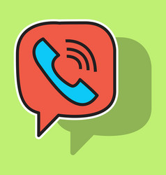 Sticker viber flat icon element template for vector