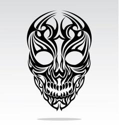 Tribal Skulls Tattoo Design vector image vector image
