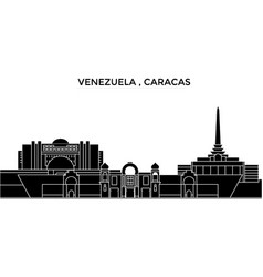 Venezuela caracas architecture city vector