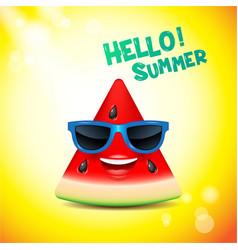 watermelon face emojishappysummer vector image vector image