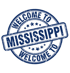 Welcome to mississippi vector