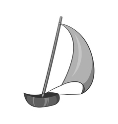 Sailing boat icon black monochrome style vector