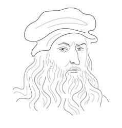 Leonardo da vinci vector