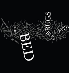 Bed bugs bites text background word cloud concept vector