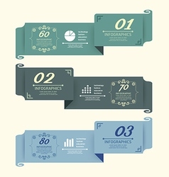 Vintage design labels infographic template vector
