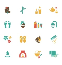 Beauty and spa icons vector