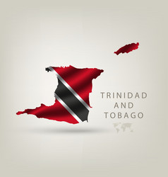 Flag of trinidad and tobago as a country with a vector