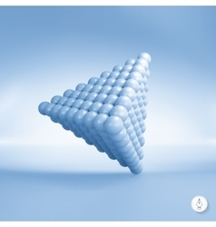 Pyramid of balls 3d vector