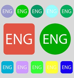 English sign icon great britain symbol 12 colored vector