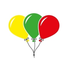 The balloons icon fun and celebration birthday vector