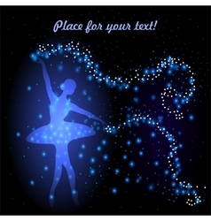 Greeting card with tender ballerina vector