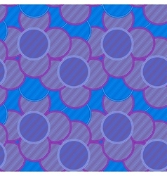 Pattern of lilac flowers in striped vector