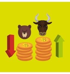 stock exchange design vector image