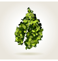 Abstract green leaf vector
