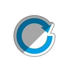 Arrows round cycle vector image