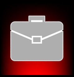 briefcase sign postage stamp or old vector image vector image