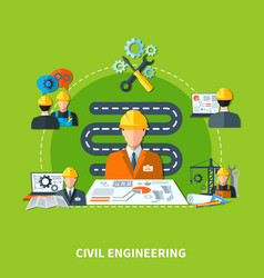 Building development icons composition vector