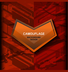 camouflage dark orange background vector image