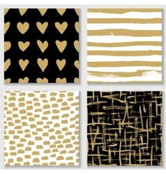Collections of cute hand drawn seamless textures vector image