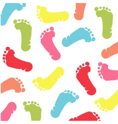 colorful baby footprint vector image vector image