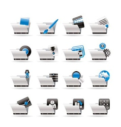 computer and phone icons vector image vector image