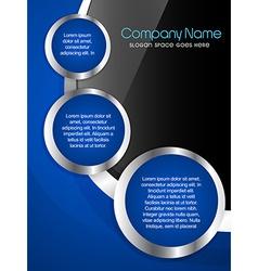 Creative company brochure vector