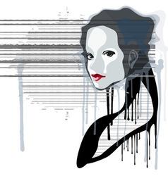 denim girl vector image vector image