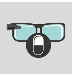 Digital glasses wifi medical medication pill vector