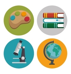 Education set line icons vector