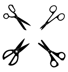 Icon set of Scissors vector image vector image