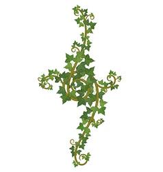 ivy branch decor vector image vector image