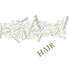 Laser therapy hair text background word cloud vector