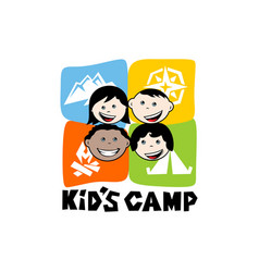 logo of the kids camp vector image