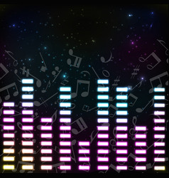 Music colored background vector