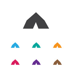 Of trip symbol on tent icon vector