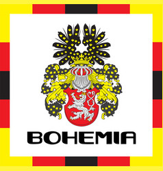 Official government ensigns of bohemia vector