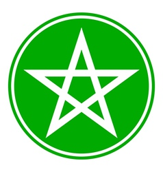 Pentagram button vector