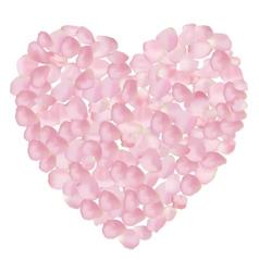 petal heart vector image