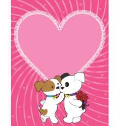 puppy valentine vector image vector image