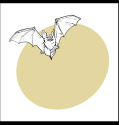 Scary flying halloween vampire bat isolated vector