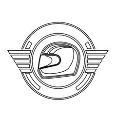 silhouette helmet award in monochrome vector image