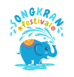 Songkran water festival vector