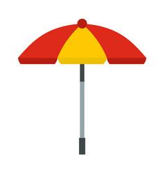 Sun umbrella icon flat style vector