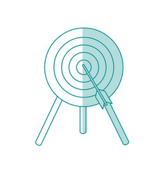 Target and arrow design vector