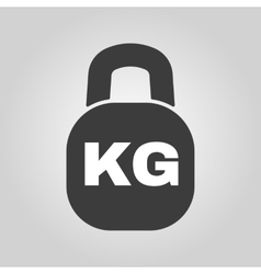 The kilogram icon kg and weight symbol flat vector