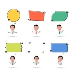 Variety of emotions man with speech bubble vector