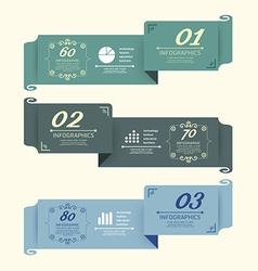 Vintage design labels infographic template vector